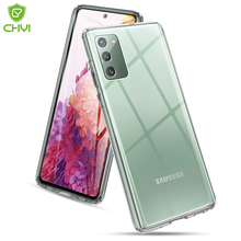 Luxury Transparent Shockproof Phone Case For Samsung Galaxy S20 FE 5G TPU Bumper anti-drop with Scratch proof hard back