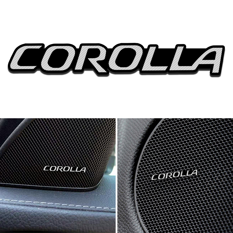 4pcs Modification For Toyota Corolla RAV4 Vensis Auris Hilux Aluminum Audio Decorative Stickers Modified Accessories Decoration