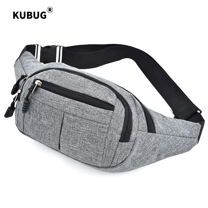 KUBUG New Fashion Waist Bags Man Running Hiking Riding Bag Waterproof Oxford Crossbody Pack Women's Shoulder Bags