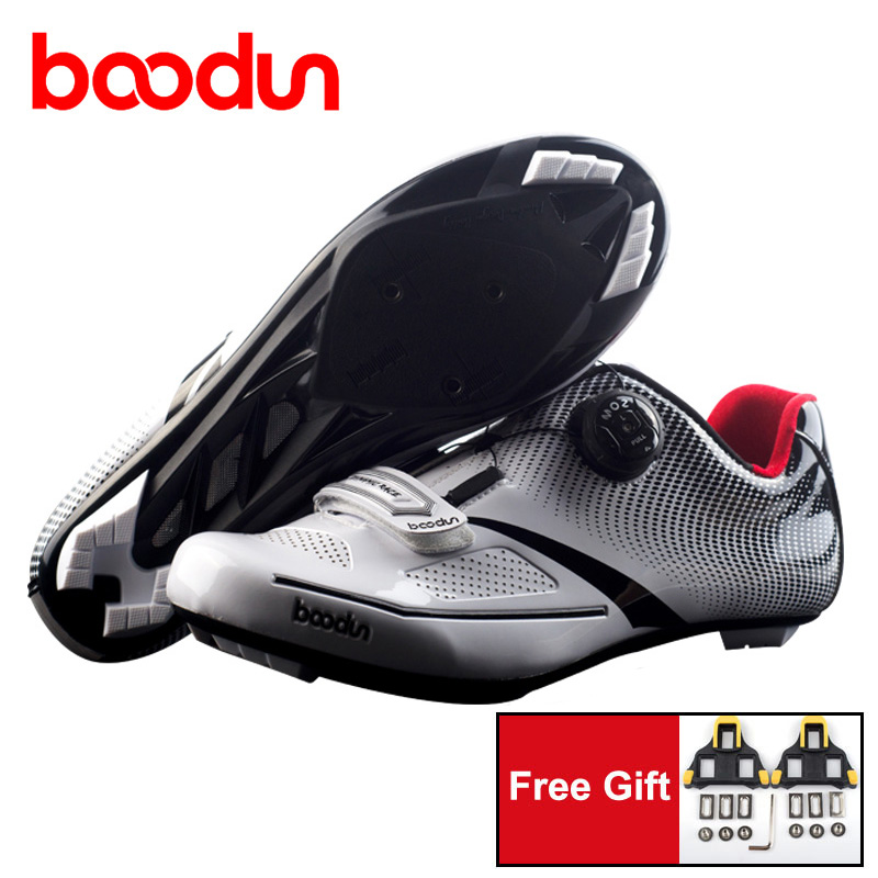 Boodun Road Cycling Shoes Men Boys Bike Riding Sneakers Pro Bicycle Racing Self Locking Shoes take