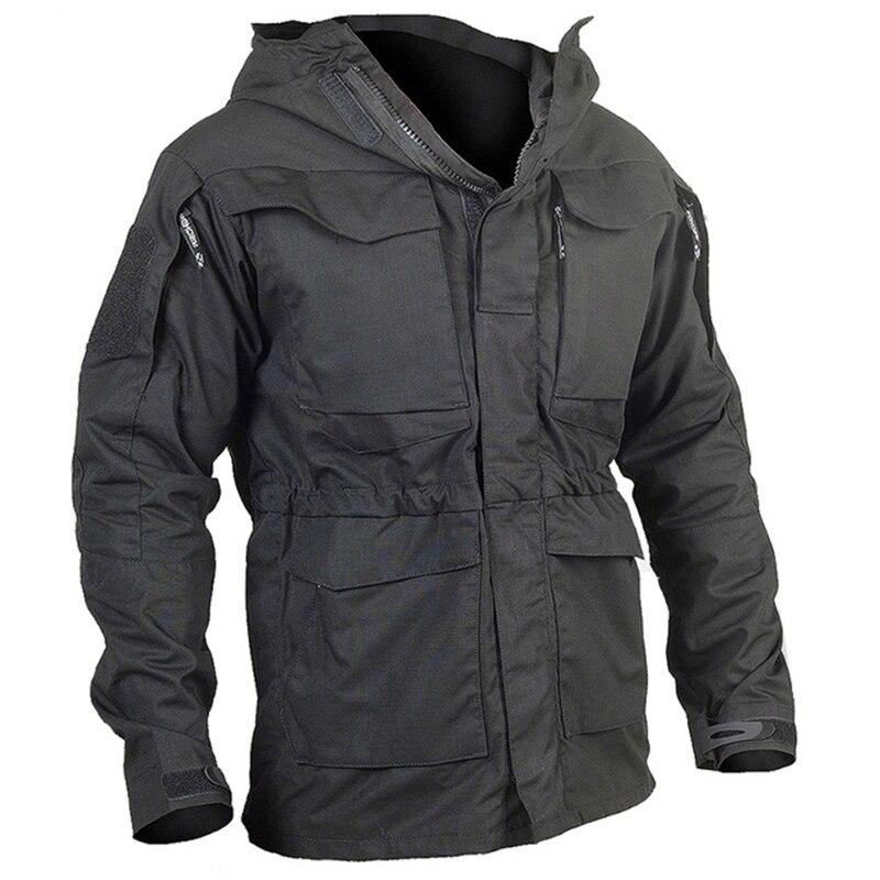Army Field Tactical Jacket Men Waterproof Rip-stop Camouflage Military Jackets Autumn Multi-Pockets Windbreaker Coat
