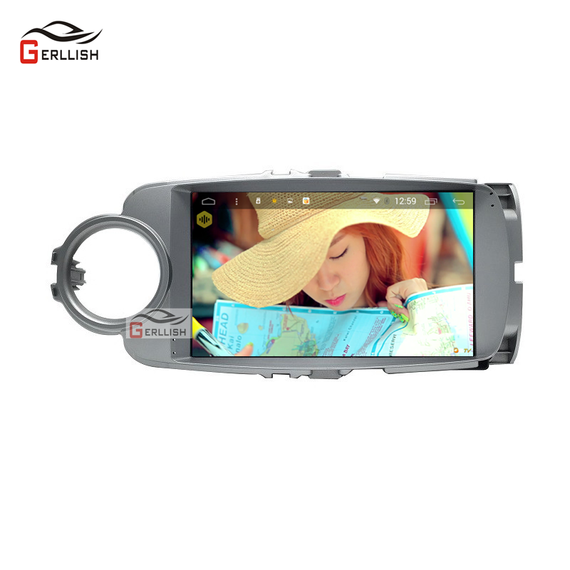 Android 8.1 Video Multimedia Player For Toyota Yaris 2012-2017 Car Radio Auto Navigation Stereo Player