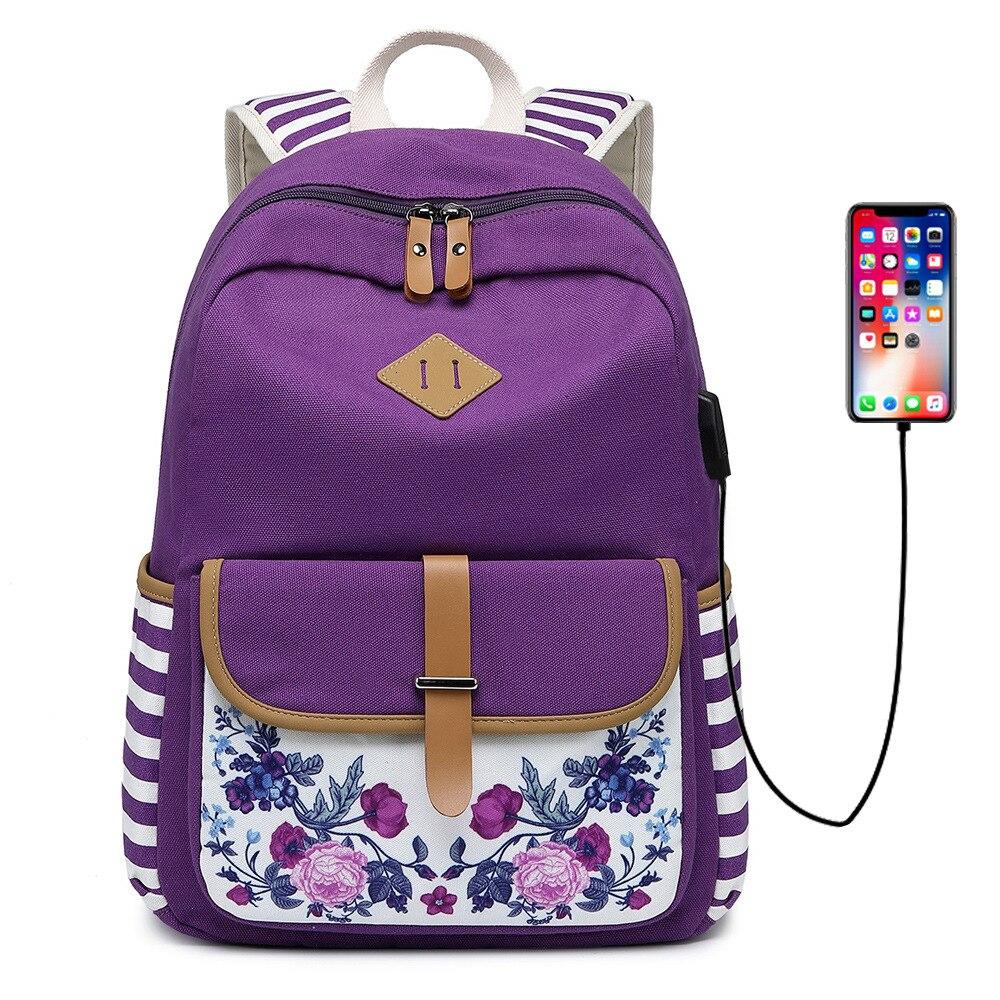 2019 neue leinwand rucksack große kapazität retro druck mittleren schule student tasche kreuz grenze freizeit computer rucksack - 2
