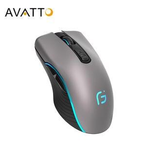 AVATTO Wireless-Mouse Mouse-2400dpi Ergonomic Portable Bluetooth-4.0 Dual-Mode Optical-Mice