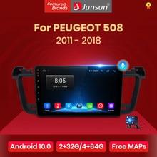 Junsun V1 Pro 2G 128G Android 10 Voor Peugeot 508 2011 - 2018 Auto Radio Multimedia Video speler Navigatie Gps 2 Din Dvd