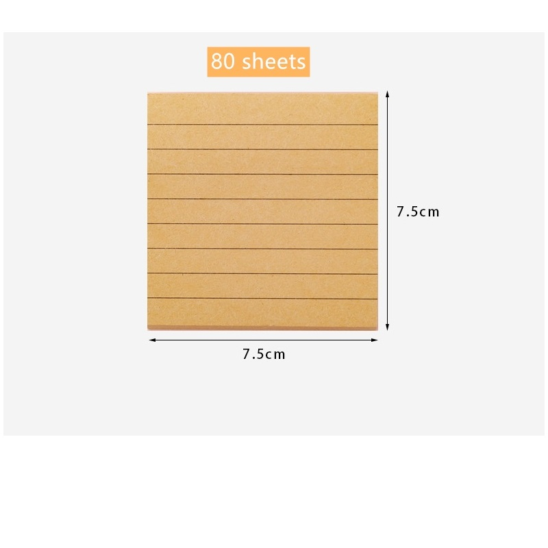 Best Deal A285 White Brown Color Paper Mini Memo Pad Blank Line