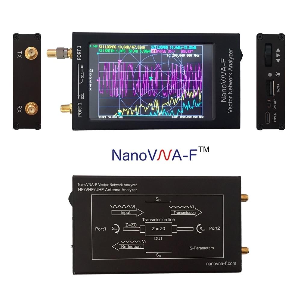 Векторный анализатор сети NanoVNA-F, SWR-метр 50 кГц-1000 МГц, 4,3 дюйма, IPS-дисплей, Ранняя волна, HF VHF, антенна