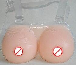 Hot Transseksueel Realistische Touch Gevoel Strap-On Siliconen Borstprothese Faux Tieten Tieten CD Borsten Prothesen DD E Cup 1400 g/paar