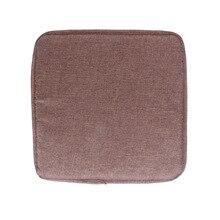 40x40 см квадратная подушка для сиденья одноцветная мягкая удобная пена наполнитель сиденья Подушка Нескользящая ресторанная домашняя набедренная подушка