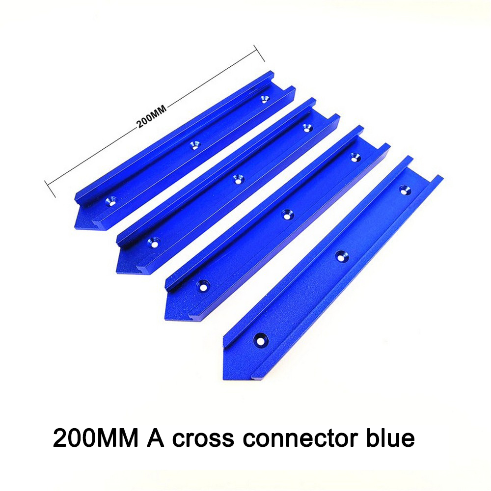 100mm 200mm T-slot T-tracks Miter Track Jig Fixture Slot Circular Saw Flip Table Cross Connector Woodworking DIY 30 Type Chute