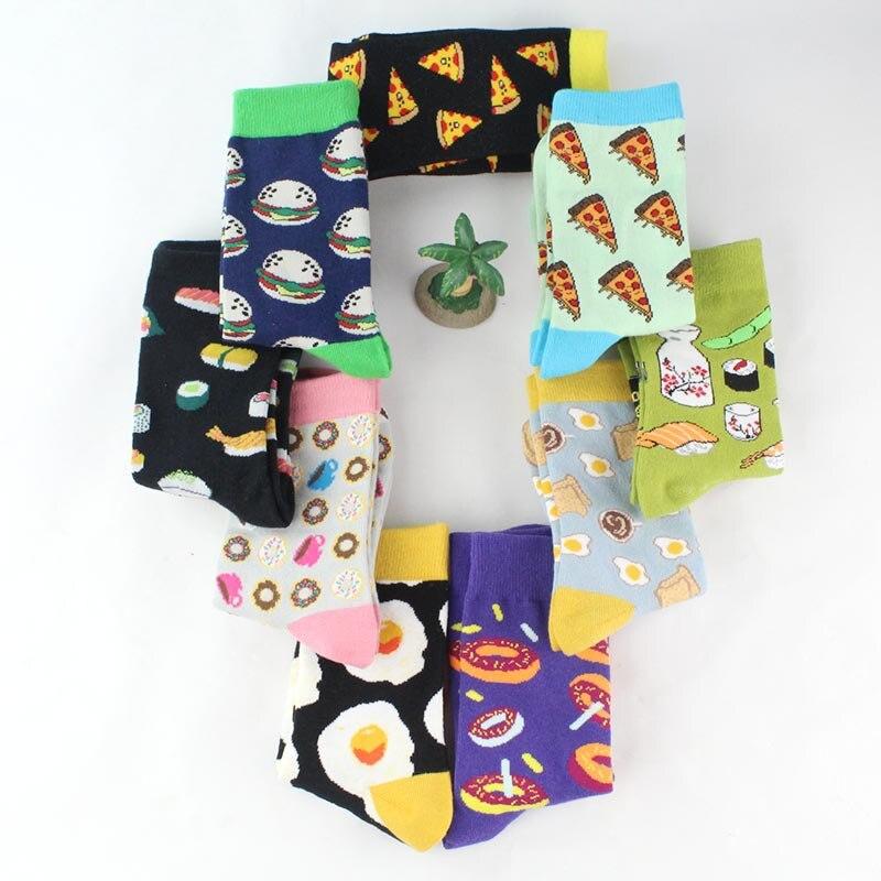Creative High Quality Creative Socks Harajuku Ladies Dessert Food Print Funny Socks Cute Socks