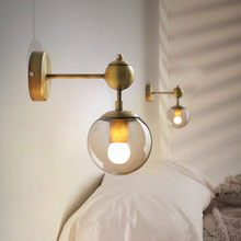 Retro Industrial Style Bedroom Bedside Led Wall Light Creative Magic Bean Glass Designer Bath Aisle Living Wall Sconce Lighting(China)