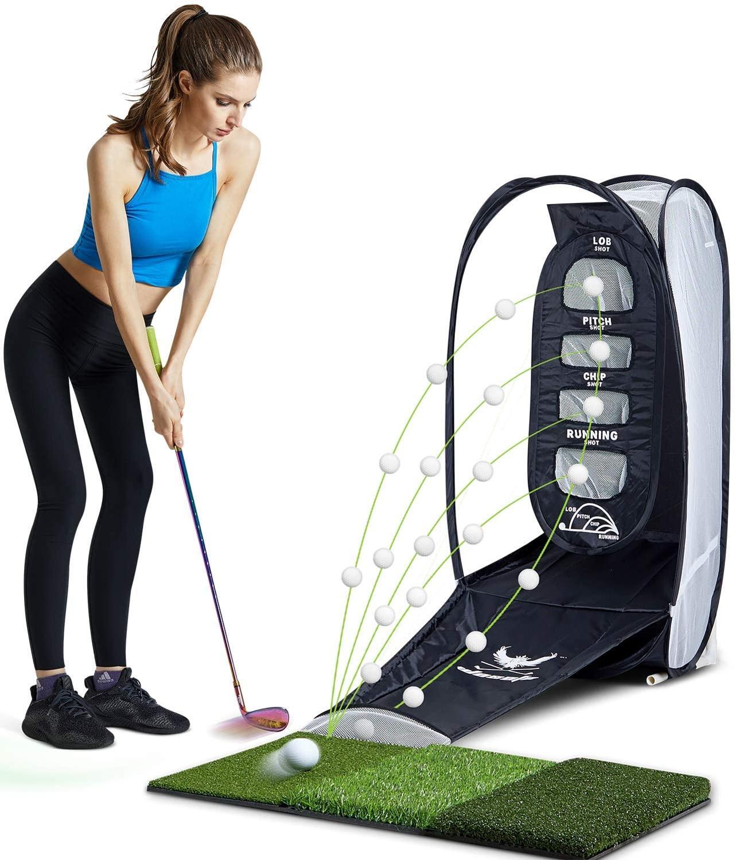 Мяч для гольфа, коврик для ударов в помещении и на открытом воздухе