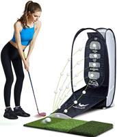 Golf Practice net hitting mat Indoor And Outdoor Portable swing trainer free shipping