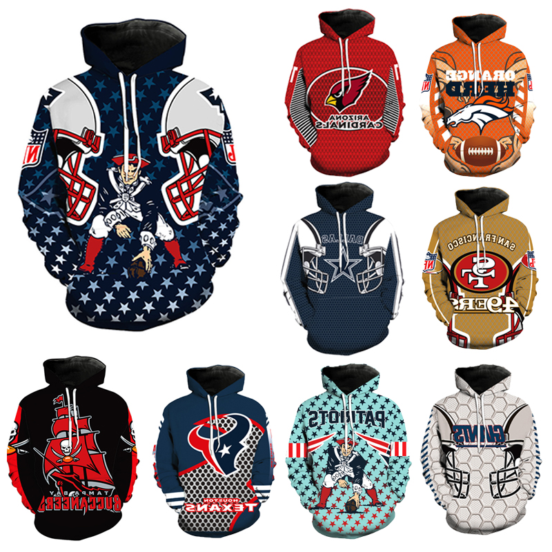 Men Fashion Houston Texans Dallas Cowboys 3D Hoodie Football Hoodie Sport Sweatshirt Hooded Jumper Jacket Outwear Coat