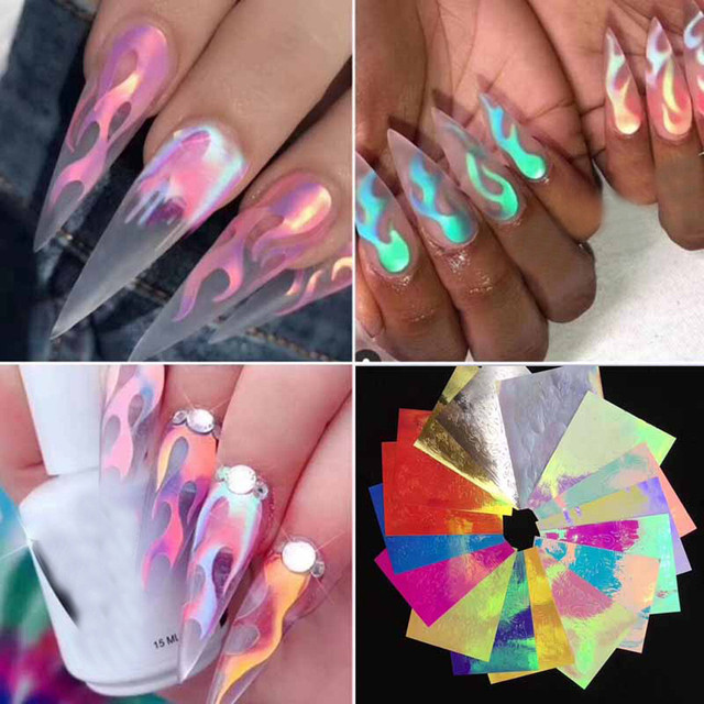3d decoration 16PCS accessories gel wholesale Symphony Sequin Heart-shaped Nail Accessories Nail Supplies j911 3