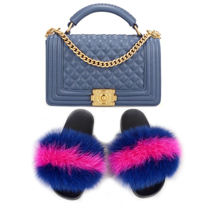 Купить женские меховые тапочки женские обувь с круглым носком модная