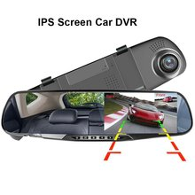 3.5 inch dash Car DVR Mirror Car Dvr Camera HD 1080P Rear View Mirror Digital Video Recorder Dual Lens Auto Dash Cam цена 2017