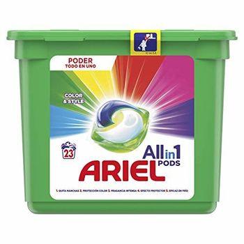Ariel Todo en Uno Pods, Color Detergente en Cápsulas 23 Lavados, con Lavado a 20 °C y Perfume Duradero
