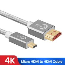 Micro HDMI to HDMI-compatible Cable 2.0 3D 4k 1080P High Speed HDMI Adapter for GoPro Hero 7 Black Hero 5 Raspberry Pi 4