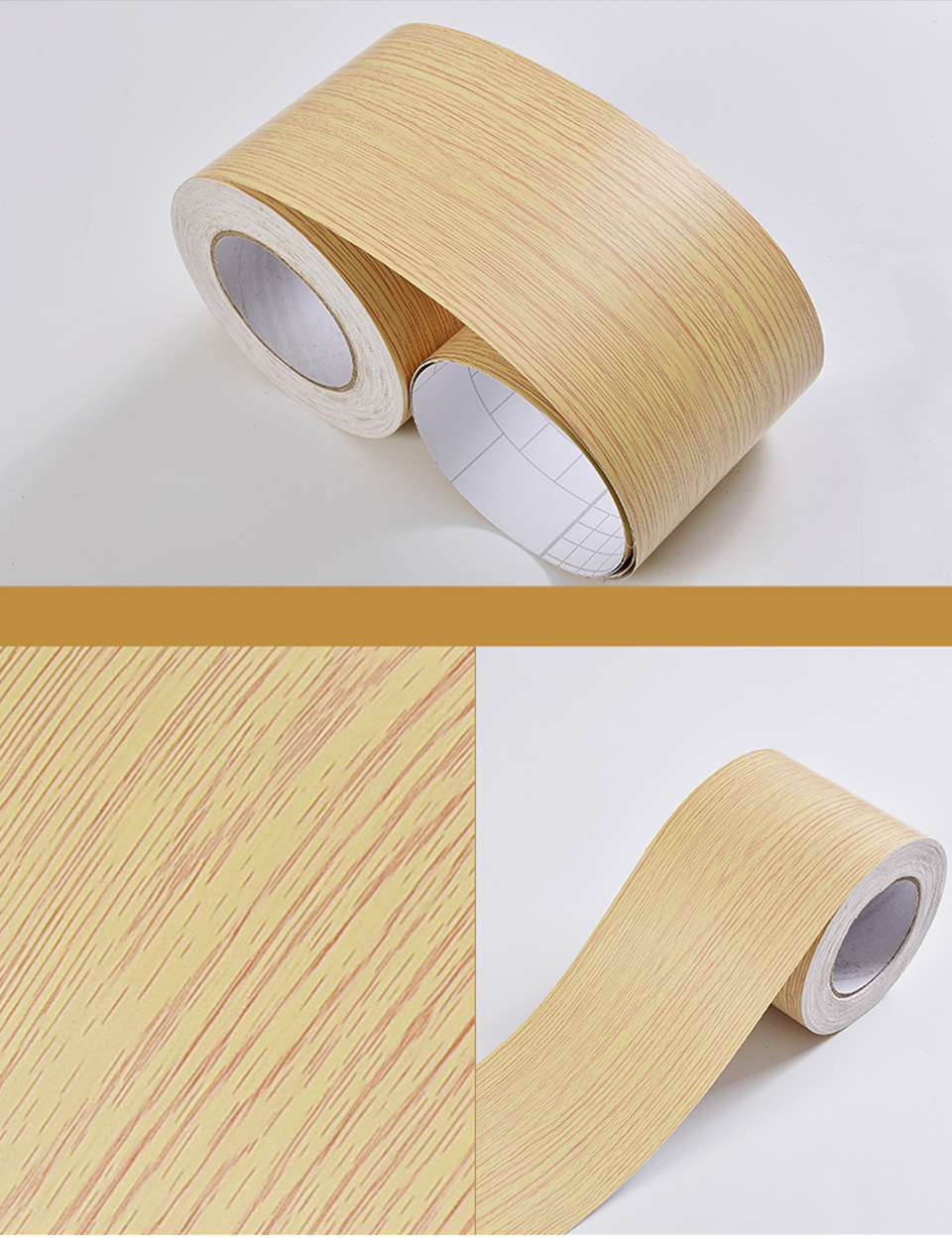 Wood Self Adhesive Window Decal Living Room Floor Border Skirting Contact Paper Waterproof Waist Line Wallpaper Home Improvement Hb5f37efe84a74c118ce0280e5e3cd671U
