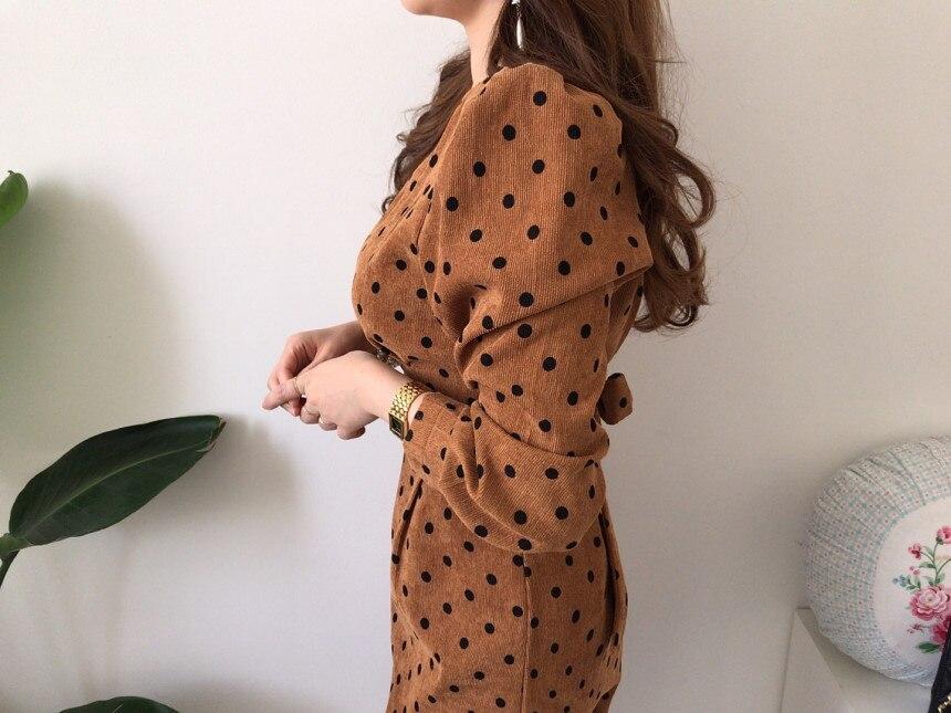 Vintage Polka Dot Print A-line Dress