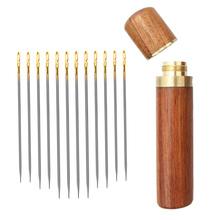 Ouderen Naald-Side Gat Blind Naald Hand Huishoudelijke Naaien Rvs Naaien Onnodig Automatische Threading Punch Apparel cheap Cn (Oorsprong) STAINLESS STEEL Bodkin 101362-01 Hand Sewing 12pcs set*Sewing Needles