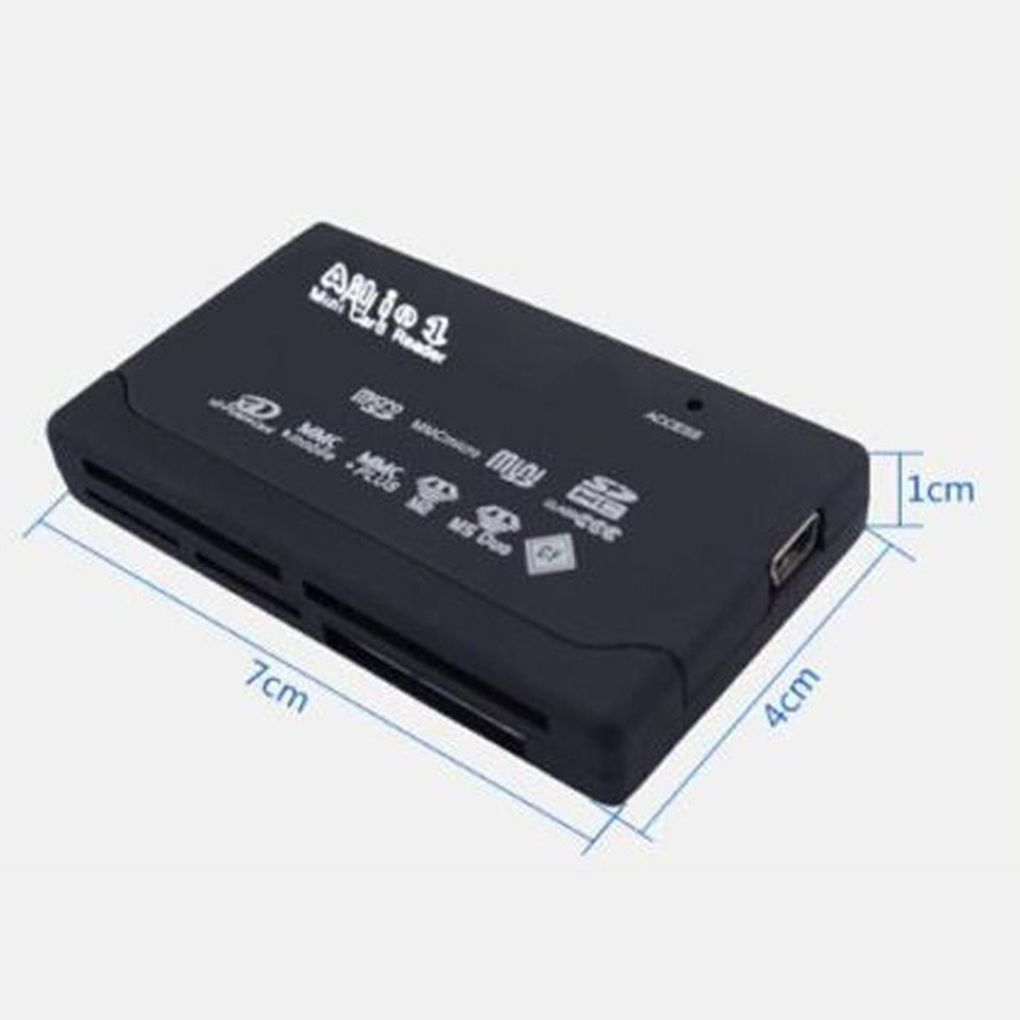 Mini Memory Cardreader All in One Card Reader USB 2.0 480Mbps Card Reader TF MS M2 XD CF Micro SD Carder Reader 4