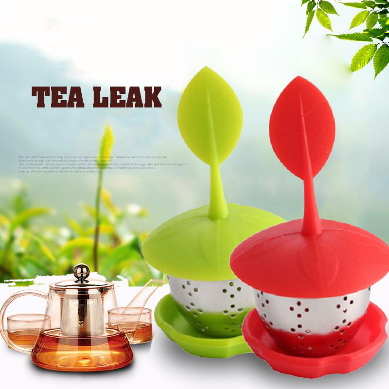 Tea Infuser Tea Bag Food Grade Cute Tea Ball Sweet Leaf Tea Strainer For Brewing Device Herbal Spice Filter Kitchen Tea Tools