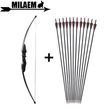 30/40lbs Archery Recurve Bow And Arrow Set 3/6/12pcs Fiberglass Spine 500 Replace Arrowhead Hunting Shooting Accessories