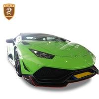 Real Carbon fiber Fit For 14 16 Lamborghini Huracan LP610 Revozport style Body kit Front Lip Auto Accessories