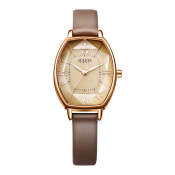 Julius Uhren Frauen Modus Uhr 2017 Frühling Marke Luxus Kristall Funkelnden Gläser Modus Lederband Quarz Uhr JA-920