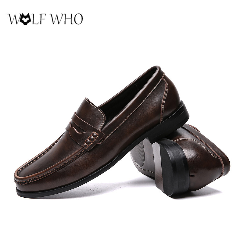 Casual Shoes Moccasins Soft-Sneakers Men Loafers Slip On Genuine-Leather Breathable Spring title=