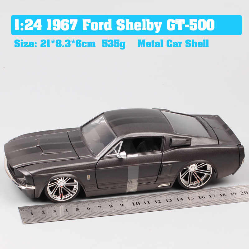 ¡Novedad de 1/24! Coche de juguete a escala 1967 de Jada Classic, coche de juguete y carrera, coche de juguete para colección Mustang GT500 fastback, recuerdo