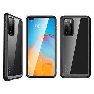 Image 2 - Pour étui Huawei P40 (sortie 2020) SUPCASE Style UB mince Anti coup de protection hybride Premium pare chocs + PC étui transparent