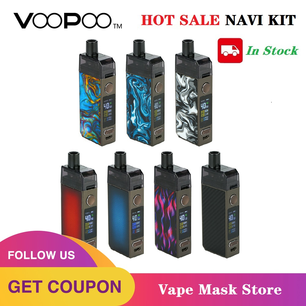 In Stock Original VOOPOO NAVI Pod Kit With 1500mah Battery 3.8ml Pod GENE.AI Chip &  40W Navi Mod E-cig Vape Pod Kit VS Vinci X