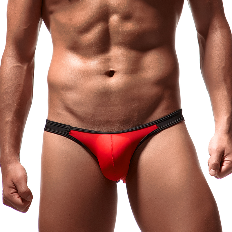 Sexy Briefs Low-waist Man Underwear 8 Color Cool Penis Pouch Slip Men Innerwear Gay Underpants Ice Silk Male Bikini