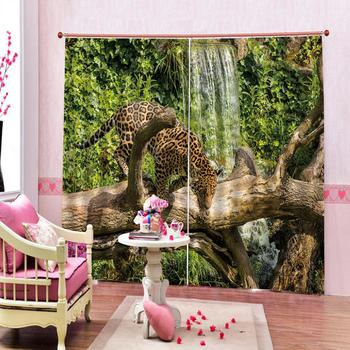 Animals 3D Tiger Printing Curtains With  Living Room or Hotel Modern Thick Sunshade Window Curtains