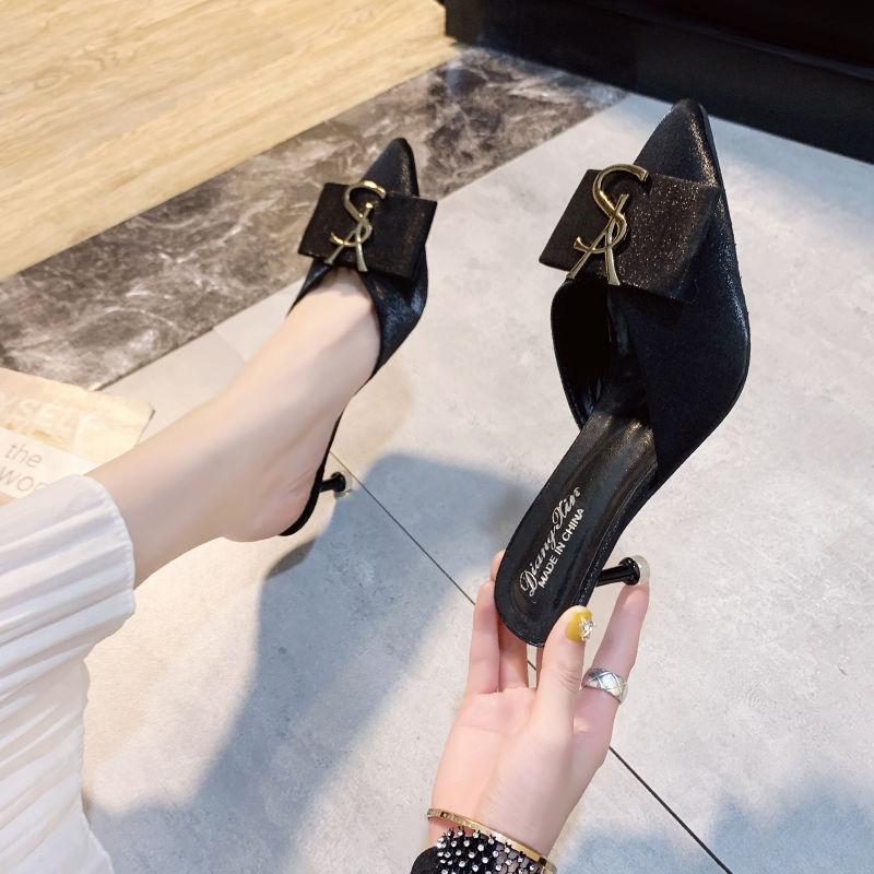 pé apontado sandálias de salto alto moda