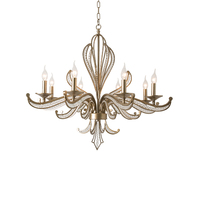 vintage silver crystal chandelier living lamp AC110V 220V lustre cristal dining room light fixtures