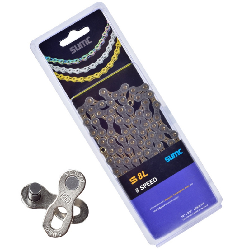 SUMC Bicycle Chain Mountain Bike Road Bike Chain 8Speed for Shimano M8000 M6000 <font><b>M9100</b></font> M610 SRAM - 8 Speed image