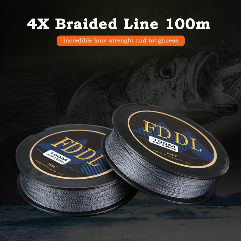 100 Meters Strong Fishing Line Super Power Fish Lines Wire PE Nylon Line Multifilament Fishing Wire Carp Fishing Braided Wire 9