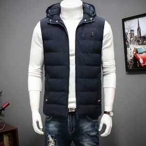 Image 3 - Winter Large Size Hooded Winter Vest For Men Sleeveless Jacket Coats Casual Warm Padded Mens down Waistcoat 6XL 7XL 8XL YT50164