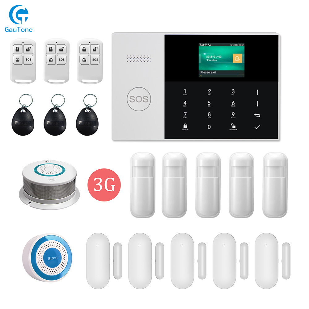 DHL livraison gratuite PG105 WIFI GSM/3G GPRS maison intelligente sécurité sans fil système d'alarme ignifuge cambrioleur APP télécommande