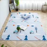 INS popular quilted 100% cotton environmental mat for children playing , yoga mat,decoration baby crawls floor mat