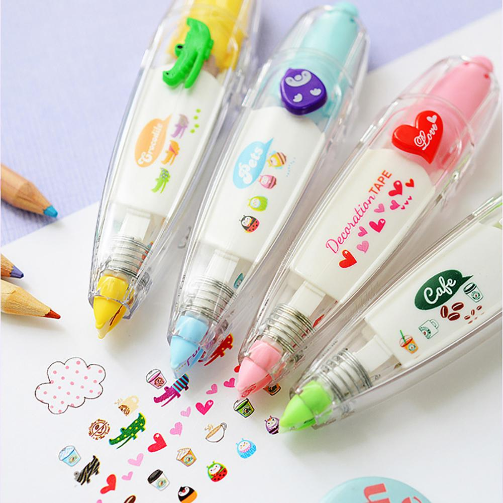 Cute Animals Press Type Decorative Correction Tape School Diary Stationery Gift