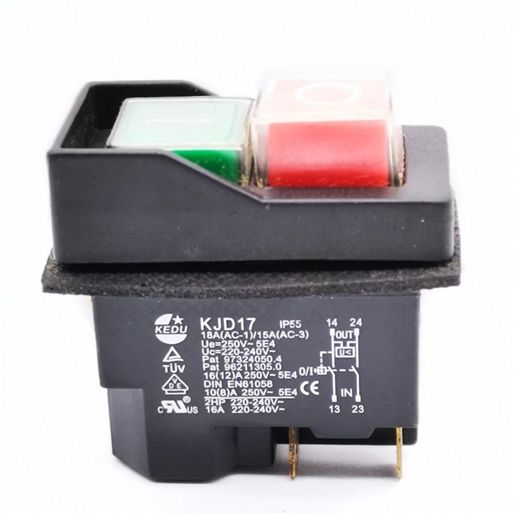 wasserdichter Druck-Taster schwarz rot gelb grün blau weiß 12mm schließer Klinge