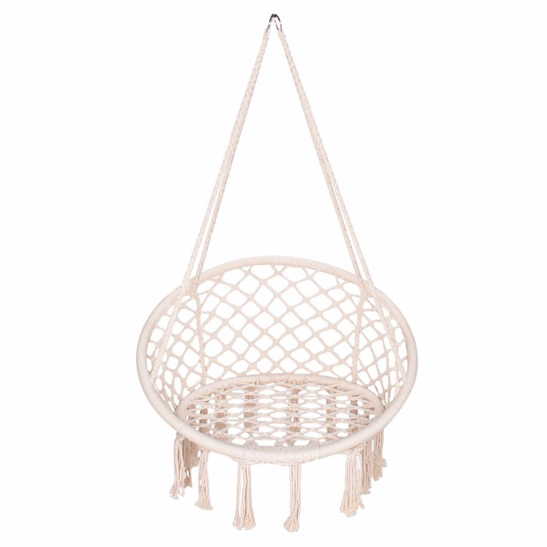 Comfortable Macrame Hammock Chair Relax Woven Rope Hanging Swing Seat Hammock Chairs DIY Outdoor Home Garden Decoration