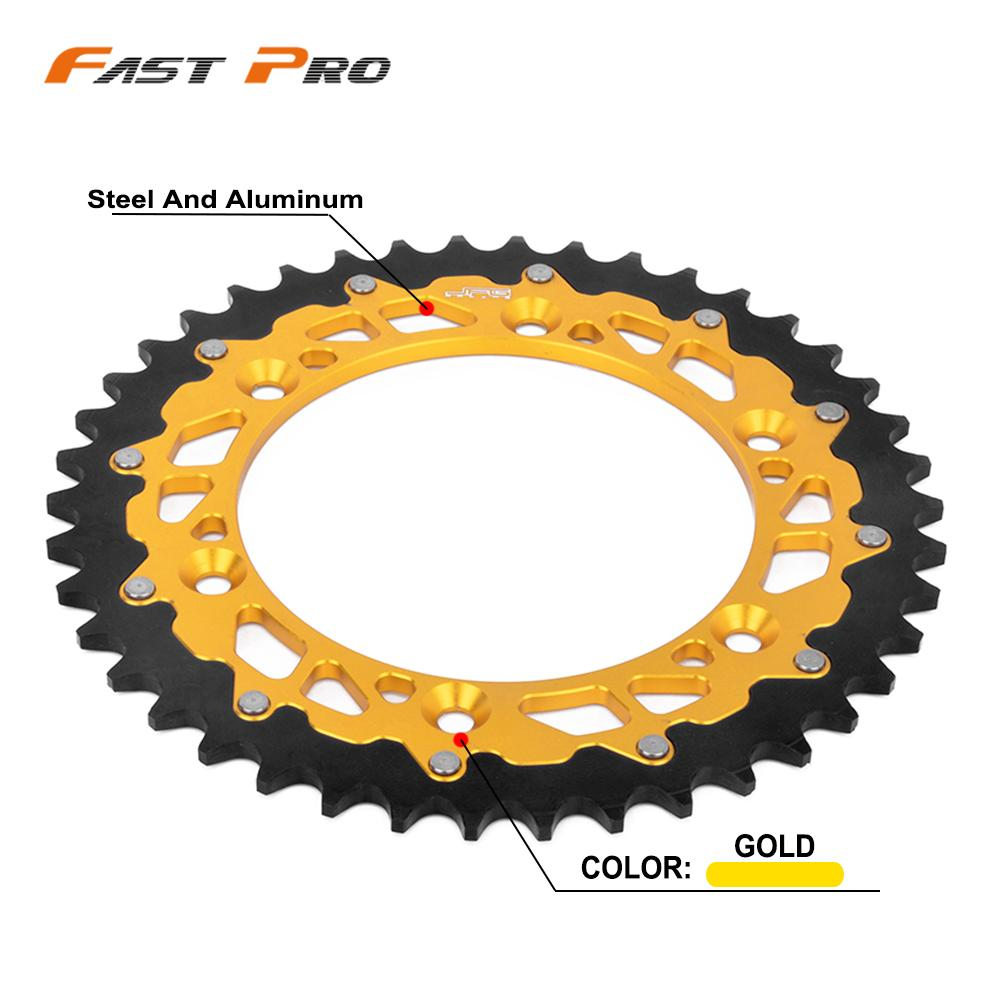 Motorcycle 42T 47T 48T 49T 50T 51T Chain Sprocket For Suzuki TSR DR DRZ RM RMX RS 125 200 250 350 400 450 TSR125 DR250 RM125