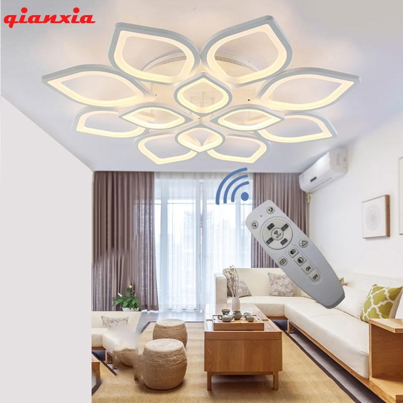 New LED Chandelier Living Room Bedroom Dining Room Lighting Modern Ceiling Chandelier Lamps AC90-260V